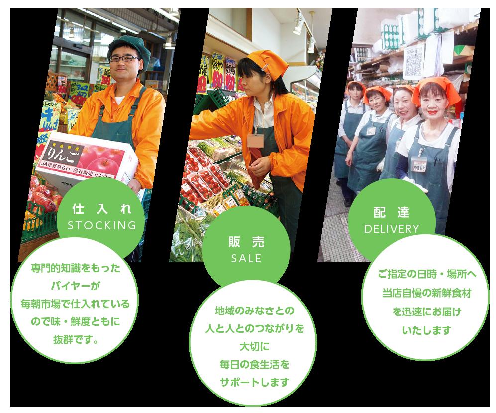 食を通して地域社会へ貢献できる会社をめざしています